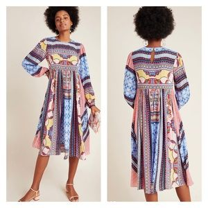 Anthropologie Marcelina Boho Midi Dress Size 10P